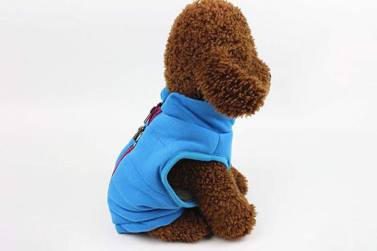 bluee M bluee M Dog Winter Cotton Vest, Small and Medium Dogs, Cat and Dog Clothing Supplies (color   bluee, Size   M)