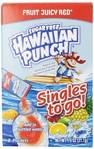 Hawaiian Punch Singles to Go Fruit Juicy Red Drink Mix- 8-Ct .75 Oz (Pack of 6)