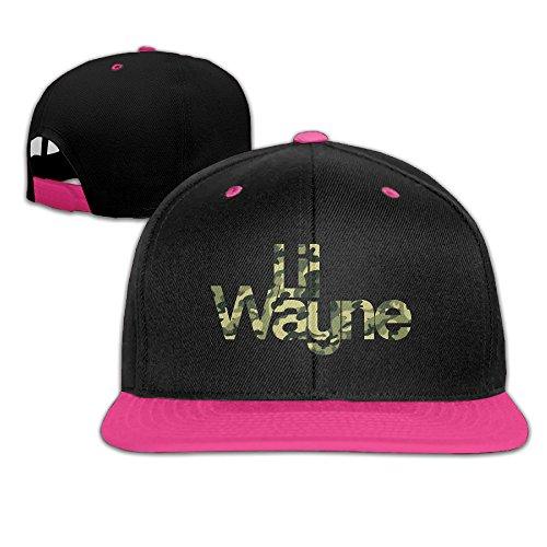V&Vstaen Adult Rapper Lil Wayne Camouflage Style Pink Adjustable Hip-hop - Wayne Lil Style