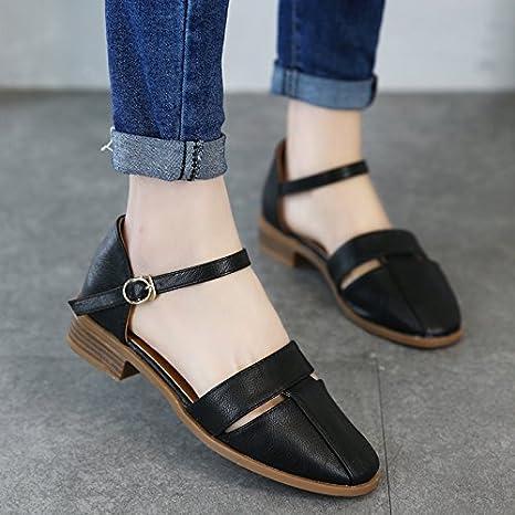 XY GK Donna Sandali Estate Borsa segue nel lato femmina vuoto sandalo  antiscivolo scarpe studente 35 Nero 7f29323531c
