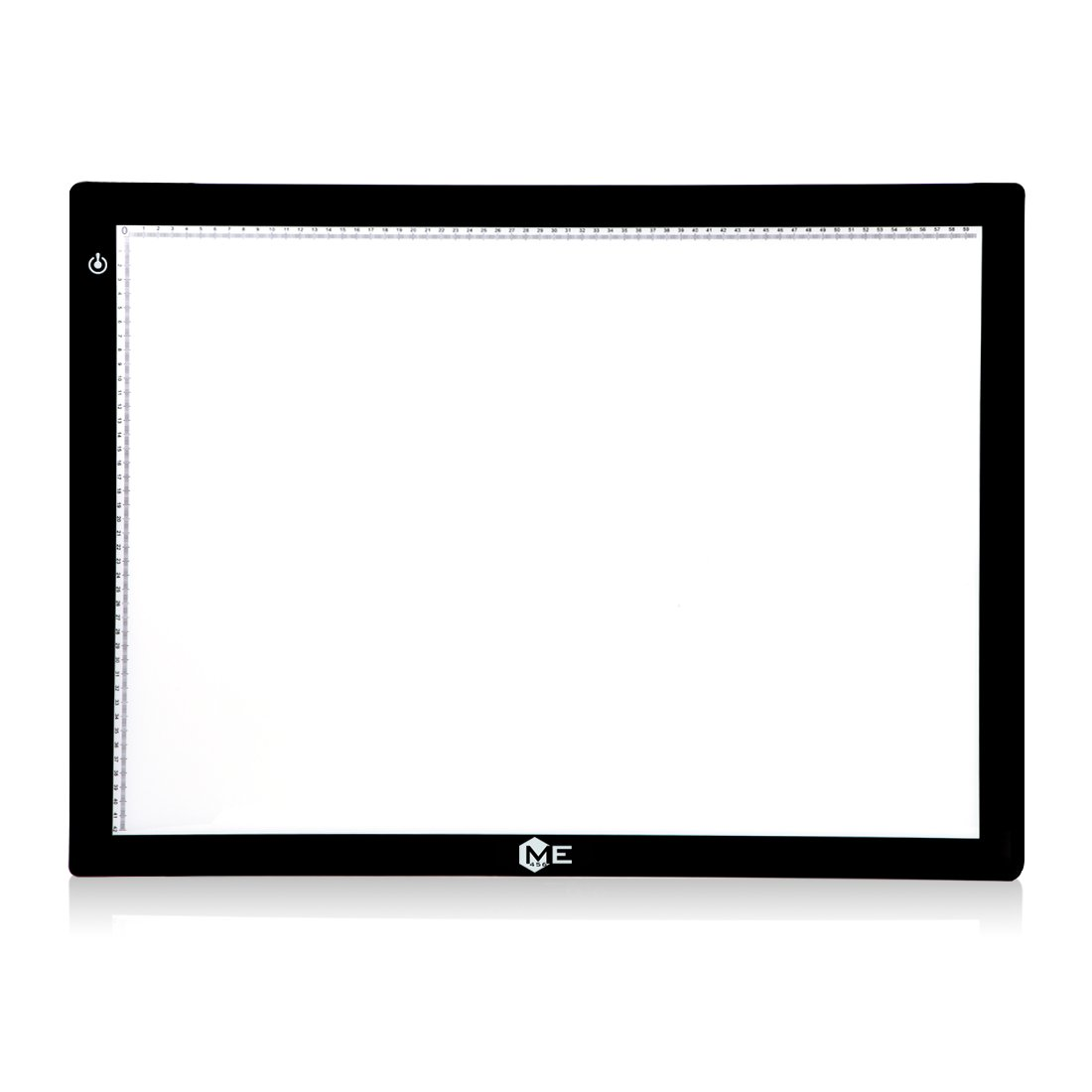 ME456 A2 Size LED Light Box 17x24 Inch Light Pad 12VDC Power Light Table for Tracing (Black) by ME456