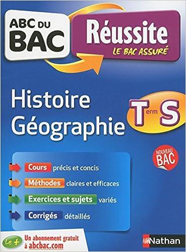 ABC du BAC Réussite Histoire-Géographie Term S: 9782091894270: Amazon.com: Books