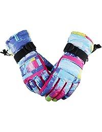 22 Degree F Womens Mens Cold Weather Waterproof Glove Magic Stretch Camo Winter Warm Ski Gloves