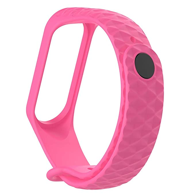 Amazon.com: Junshion Fashion Sport Soft Silicone Wristband Wrist Strap for Xiao Mi Band 3 Replacement Band Strap for Men Women: Cell Phones & Accessories