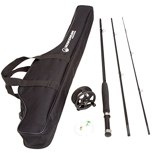 Wakeman Charter Series Fly Fishing Combo with Carry Bag - Black - 80-FSH8000 (Kit Fishing Fly)
