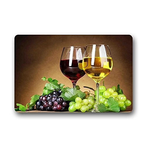 wine and grapes kitchen rugs - 5