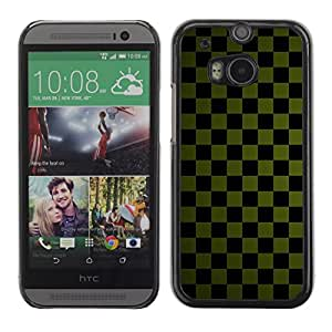 Be Good Phone Accessory // Dura Cáscara cubierta Protectora Caso Carcasa Funda de Protección para HTC One M8 // Texture Checkered Green