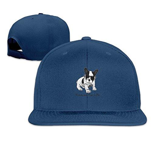 LOOKNAP Unisex Adult French Bulldog Cool Glass Structured Flat Adjustable Snapback Cool Baseball Cap - Bulls Chicago Australia Snapback