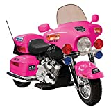 New Pink Ride On Toy Police Motorcycle 12V Kids Power Tricycle ,#G14E6GE4R-GE 4-TEW6W221422