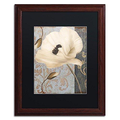 (Poppy Brocade II by Color Bakery, Black Matte, Wood Frame 16x20-Inch)