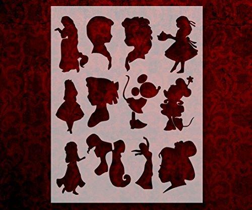 disney princess anna elsa alice mulan 8 5 x 11 custom stencil