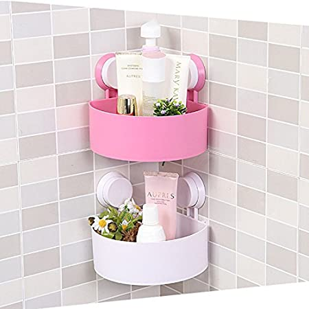 Amazon.com: Cute Bathroom Corner Storage Rack Organizer Shower Wall ...