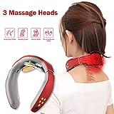 Neck Massager, Smart Neck Massager, Electric Pulse Neck Massager, Electric Neck Massager with 6 Modes,Wireless 3D Travel Neck Massage Equipment