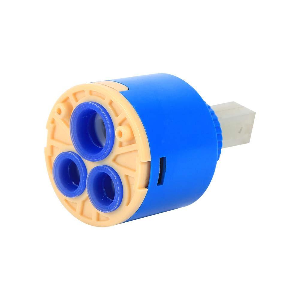idalinya 35//40 Mm Cartucho De Disco De Cer/áMica Mezclador De Agua Grifo V/áLvula De Grifo De Control Interno PP Pl/áStico Azul Pr/áCtico 40mm