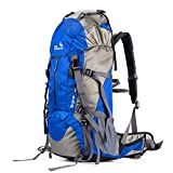 Cheap SUNVP 50L Lightweight Hiking Backpack Outdoor Sport Nylon Water-resistant Internal Frame Trekking Bag with Rain Cover for Climbing Camping Travel Mountaineering