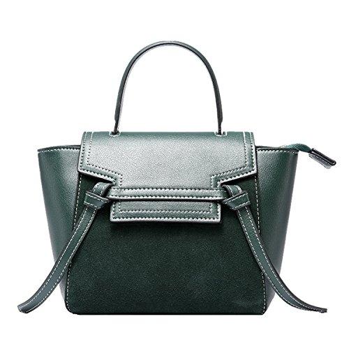 Dissa Leather Medium Shoulder Womens Green Bag Patent qpSqwnr8