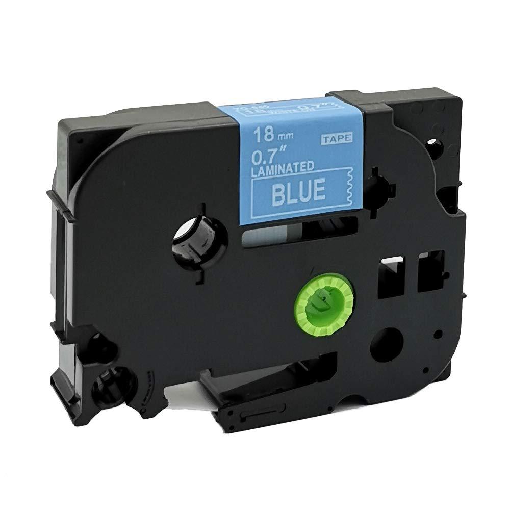 Neouza compatibile per Brother P-Touch Laminated TZe TZ Label tape Cartridge 18/mm Tze-641 black on yellow.