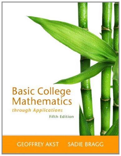 Basic College Mathematics through Applications (5th Edition)