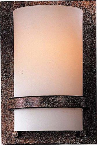 (Minka Lavery Wall Sconce Lighting 342-357-PL Glass Damp Bath Vanity Fixture, 1 Light, 13 Watts Fluorescent, Iron)