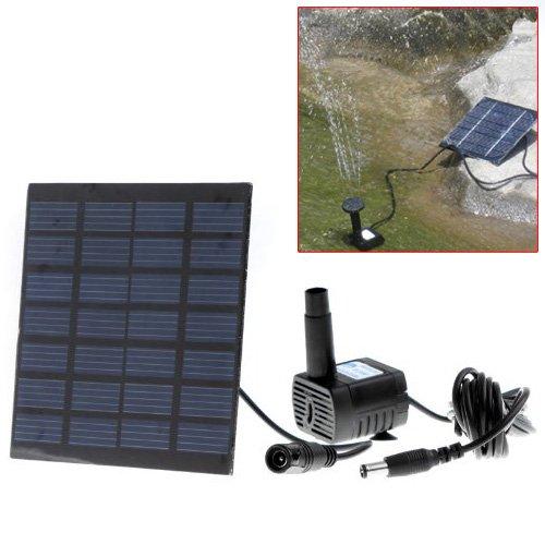 Ground Sprinklers TIMETOP Solar Power Fountain Pool Water Pump Garden Plants Watering Kit