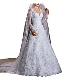 Vintage Inspired vestidos de novia Long Sleeve Sheer Lace Bridal Wedding Dresses M0309