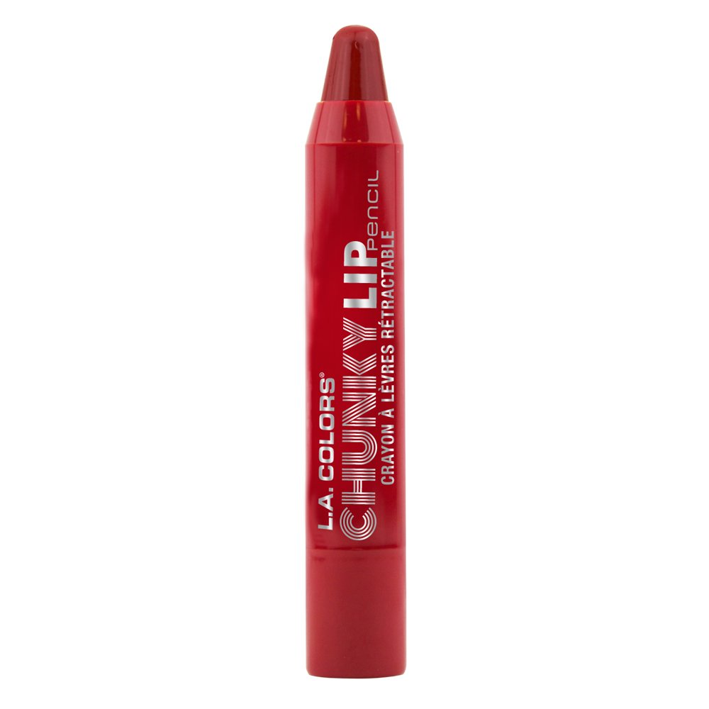 L.A. Colors Chunky Lip Pencil, Deep Red, 0.04 Oz L.A. Colors Cosmetics