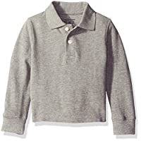 The Children's Place Baby-Boys Long Sleeve Uniform Polo Shirt, Smokey, 6-9 mo...