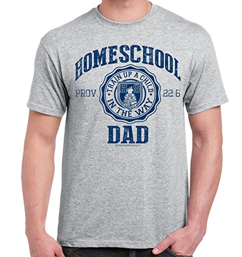 Homeschool Dad Prov. 22:6 T-Shirt M Sport Grey