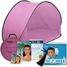 Pluto Pink Beach Tent: An amazing accessory for your kids comfort! Deluxe lightweight Toddlers tent with carrying bag. Keep Your Baby Away From the Heat of the Sun, From Wind & Rain