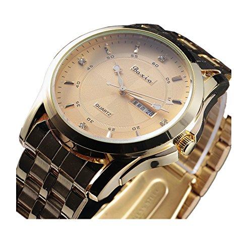 Cemavin Men's Luxury Dress Styles Quartz Movement Complete Calendar Wrist Watch