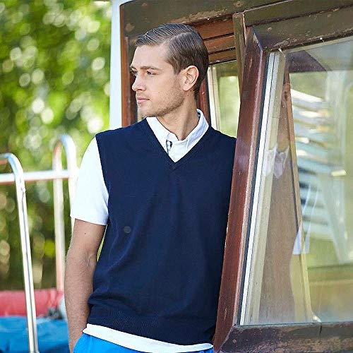 Coton Nicholson Homme Marine En James Manches Pull Bleu Sans Classique amp; Pour TngqS