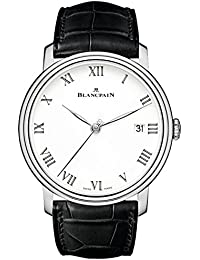 Villeret 8 Days White Enamel Dial 18kt White Gold Mens Watch 6630-1531-55B