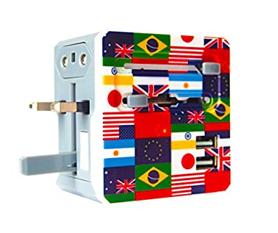 All In One Universal Travel Adapter With 2 Dual USB Ports - Can Be Used As USA Adapter, UK Adapter, European Adapter, Australian Adapter, & Universal Plug Converter for 150+ International Countries by TravelMore