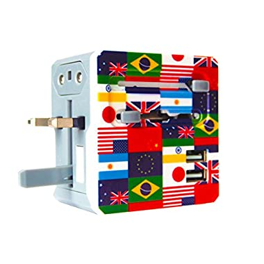 All In One Universal Travel Adapter With 2 Dual USB Ports - Can Be Used As USA Adapter, UK Adapter, European Adapter, Australian Adapter, & Universal Plug Converter for 150+ International Countries World Wide