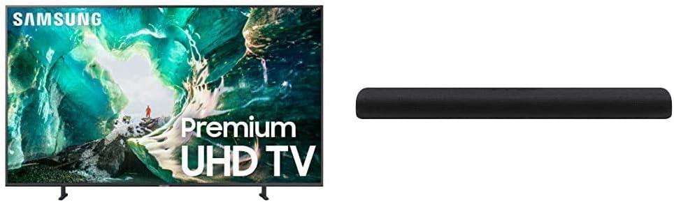 Samsung 82-Inch 4K 8-Series UHD Smart TV with Samsung HW-S60T 4.0ch All-in-One Soundbar (2020)