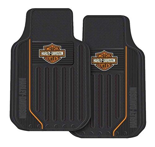 Harley Davidson Truck Floor Mats - Harley-Davidson Elite Floor Mats, Bar & Shield Universal-Fit Front 1467 Set of 2