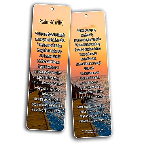 Bible Verse Bookmarks - Psalm Bookmarks - NIV Version (30-Pack) - Religious Christian Inspirational Gifts to Encourage Men Women Boys Girls - Bible Study Sunday School War Room Decor by NewEights (Image #7)