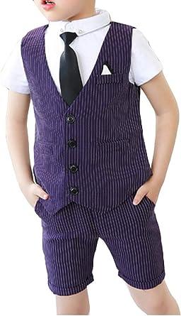 Camisa de Chaleco de Traje Corto de Verano para niño Pantalones ...