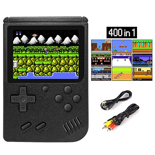 Elekpopu Handheld Games Console for Kids Adults, Retro Video Game Console Mini Arcade Game with 400 Classic FC Games