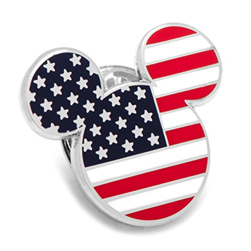 (Disney Stars and Stripes Mickey Mouse Lapel Pin, Officially Licensed)