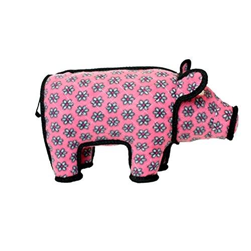 TUFFY Barnyard Animal Pig, Durable Dog Toy, Large