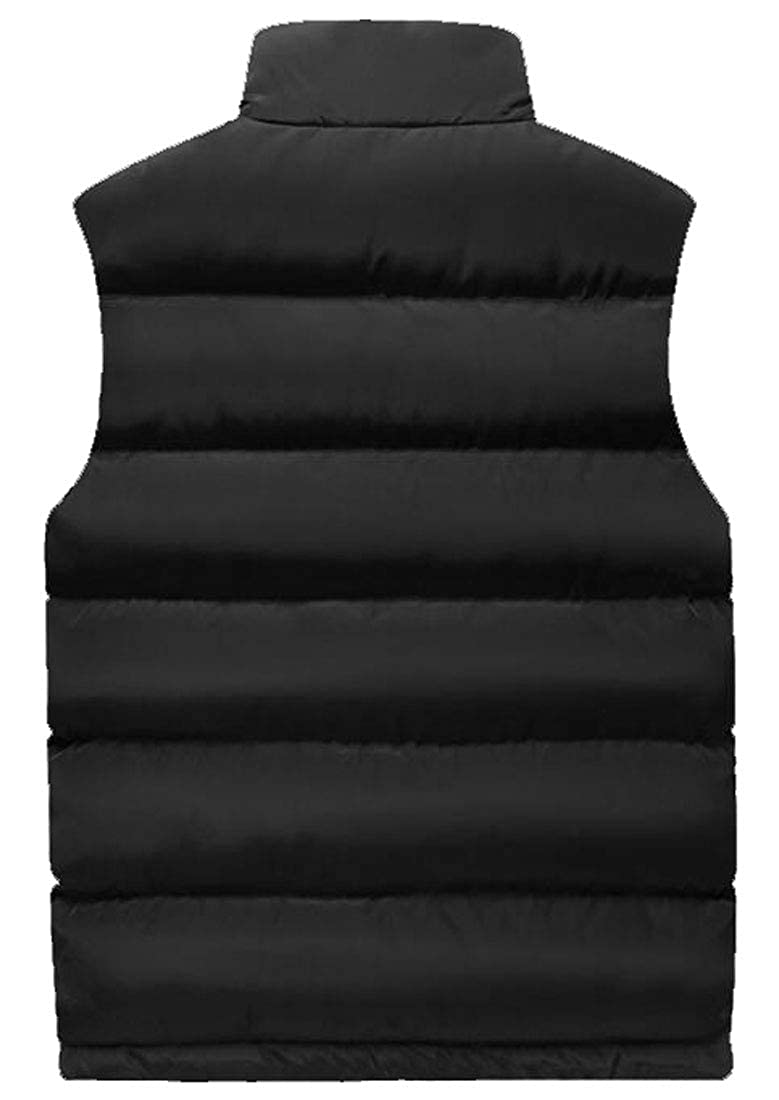 Fubotevic Men Thicken Stand Collar Winter Quilted Down Puffer Vest Jacket Outerwear