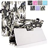 Cellularvilla Case for Amazon Kindle Fire HD 7' inch 2014 4th Generation Pu Leather Flip Folio Stand Case Cover (Army Camouflage)