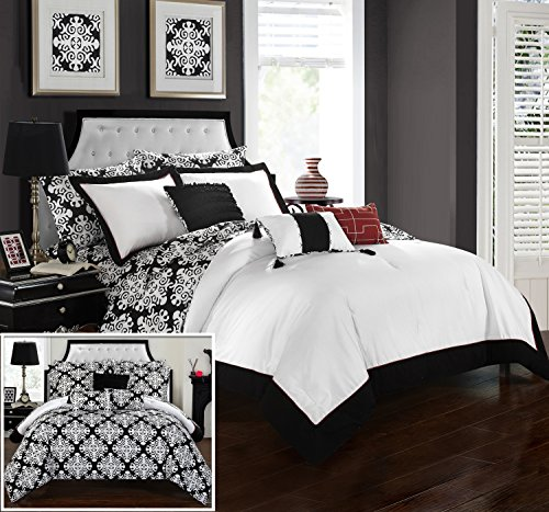 Chic Home CS3095-AN 8 Piece Tania And White Reversible Me...