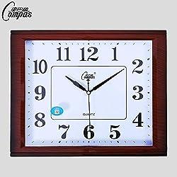 Wall Clock,Large Wall Clocks,Wall Clock Large,Large Wall Clock,Wall Clocks Large,Wall Clocks.Living Room Wall Clock Bedroom Office Wall Clock Mute Classic Art Quartz Clock Simple Square Fash