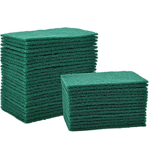 Jetec 40 Pieces Cleaning Scrub Sponge Scouring Sponge Pads Non Scratch Pads for Kitchen Dishes Cleaning, Green ()