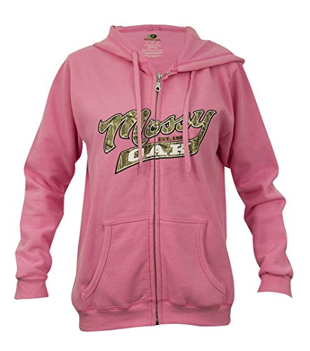 Mossy Oak Women's Full Zip Hoodie, Azalea, X-Large