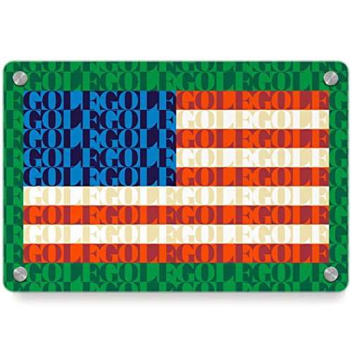 American Flag Mosaic | Golf Metal Wall Art Panel by ChalkTalkSPORTS | Multiple Colors
