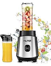 Standmixer, 500W mini Standmixer, MLITER Smoothie Maker mit 2 Trinkflaschen, BPA Frei, Edelstahl