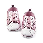 Antheron Baby Shoes - Infant Boys Girls Anti-Slip Sneakers Soft Sole Toddler First Walker Crib Shoes(Pink,0-6 Months)